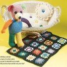 W243 Crochet PATTERN ONLY Scrappy Teddy Bear Toy Doll Pattern