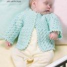W241 Crochet PATTERN ONLY So Sweet Baby Sweater Pattern