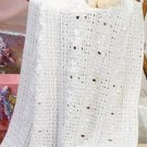 W224 Crochet PATTERN ONLY Satin Diamond Baby Wrap Afghan Blanket Pattern