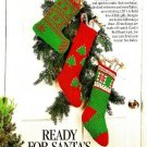 W407 Crochet/Knit PATTERN ONLY 1 Crochet and 2 Knit Christmas Stockings Patterns