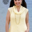 W405 Crochet PATTERN ONLY Lacy Shell & Cowl Pattern Top Ladies