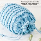 W429 Crochet PATTERN ONLY Tiny Ruffles Bag Purse Pattern