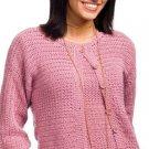 W428 Crochet PATTERN ONLY Crunch Stitch Twin Set Cardigan Sweater Pattern