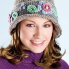 W403 Crochet PATTERN ONLY Flower Ban Hat Pattern