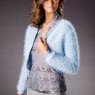 W425 Crochet PATTERN ONLY Blue Brilliance Bolero Jacket Pattern
