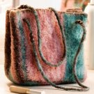 W391 Crochet PATTERN ONLY Watermelon Stripes Felted Purse Bag Pattern