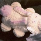 W415 Crochet PATTERN ONLY Buckle-Up Bear and Bunny Seat Belt Cover Pillow Patter
