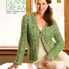 W410 Crochet PATTERN ONLY Island Dreams Cardigan Sweater Pattern Sized to 2X