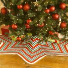 W014 Knit PATTERN ONLY Zig-Zag Striped Christmas Tree Skirt Pattern