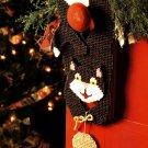 X666 Plastic Canvas PATTERN ONLY Cat & Mouse Door Hanger