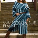 X007 Crochet PATTERN ONLY Blue Blanket Coat Pattern