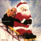 "X322 Crochet PATTERN Book ONLY Jolly Santa 36"" Santa Doll & Bag Pattern"