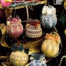 X085 Crochet PATTERN Book ONLY Satin Ball Splendor 12 Christmas Ornament Covers