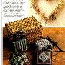 Y944 Cross Stitch PATTERN ONLY Country Sachets and Heart Wreath Patterns