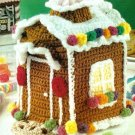 Y094 Crochet PATTERN ONLY Gingerbread House Tissue Box Cover Pattern