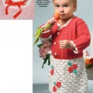 X699 Crochet PATTERN ONLY Toddler Easter Elegance Dress Cardigan Sweater & Hat