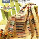 W249 Crochet PATTERN ONLY Beginner's Rainforest of Colors Stripes Afghan Pattern