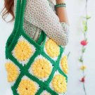 Y755 Crochet PATTERN ONLY Daffodil Granny Tote Bag Satchel Pattern