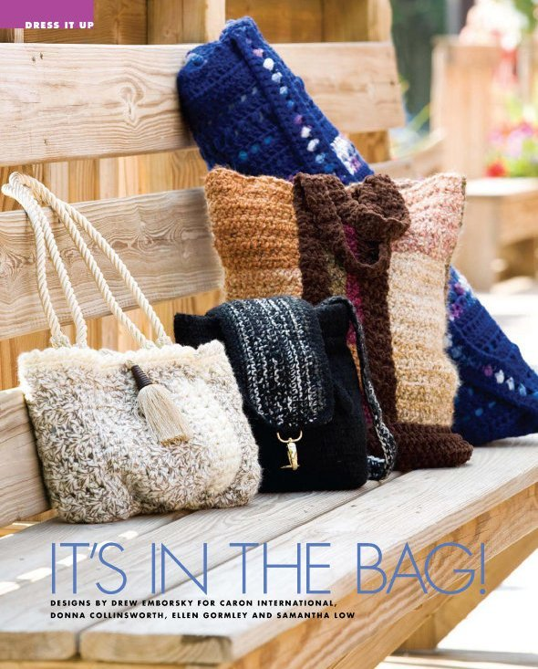 X183 Crochet PATTERN ONLY 4 Purse, Bag, Satchel, Tote Pattern