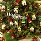 W384 Knit & Crochet PATTERN ONLY Holiday Surprises Gift Bag Ornaments Patterns