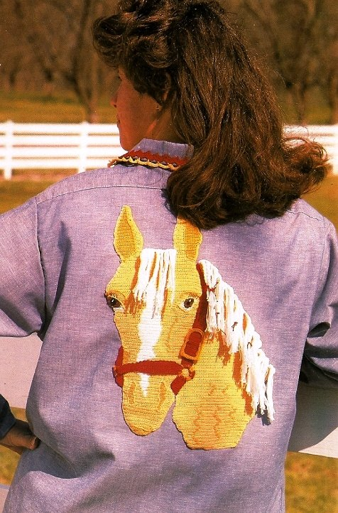 X494 Crochet PATTERN ONLY Palomino Horse Applique Only Pattern