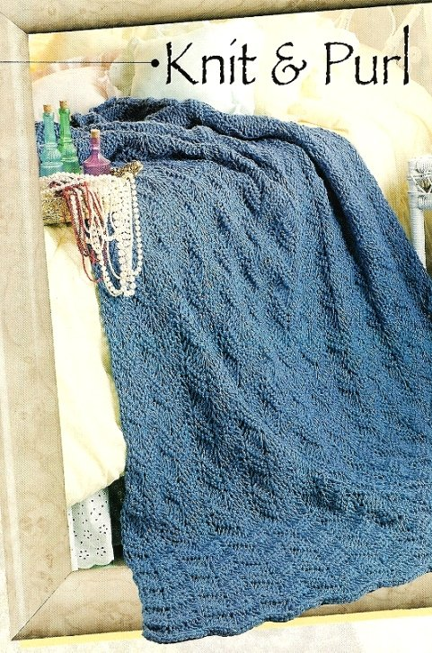 X529 Crochet PATTERN ONLY Knit & Purl Ripple Afghan - Looks Knitted - Pattern