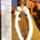X487 Crochet PATTERN ONLY Queen Elizabeth Gown & Cape Fashion Dolls Barbie