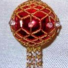 X241 Bead PATTERN ONLY Beaded Jewel Christmas Ornament Cover Pattern