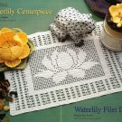 X137 Filet Crochet PATTERN ONLY Waterlily Doily and Flower Centerpiece Pattern