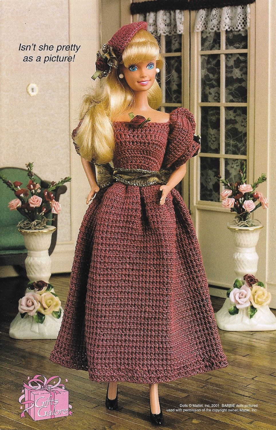 X098 Crochet PATTERN ONLY Fashion Doll or Barbie Bridesmaid Outfit Pattern