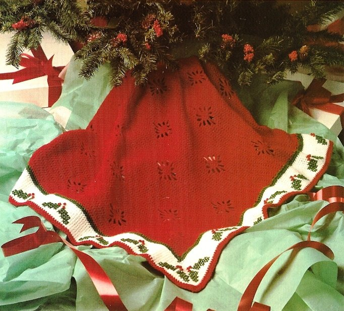 X819 Crochet PATTERN ONLY Christmas Holly Afghan Pattern