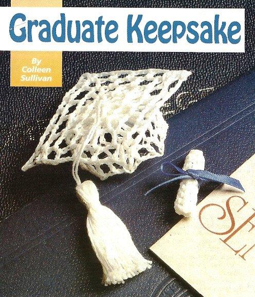 Y389 Crochet PATTERN ONLY Graduate Keepsake Mortarboard & Tassel Ornament Patter