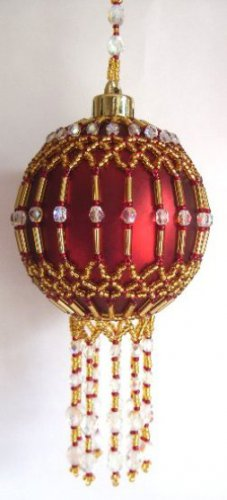 X302 Bead PATTERN ONLY Beaded Cleopatra Christmas Ornament Cover Pattern
