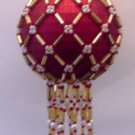 X453 Bead PATTERN ONLY Beaded Lattice Christmas Ornament Cover