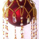 X875 Bead PATTERN ONLY Beaded Countess Christmas Ornament Cover Pattern