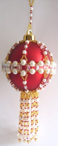 X347 Bead PATTERN ONLY Beaded Chatsworth Christmas Ornament Cover Pattern