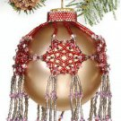 X069 Bead PATTERN ONLY Beaded Bedecked Boughs Christmas Ornament Cover Pattern