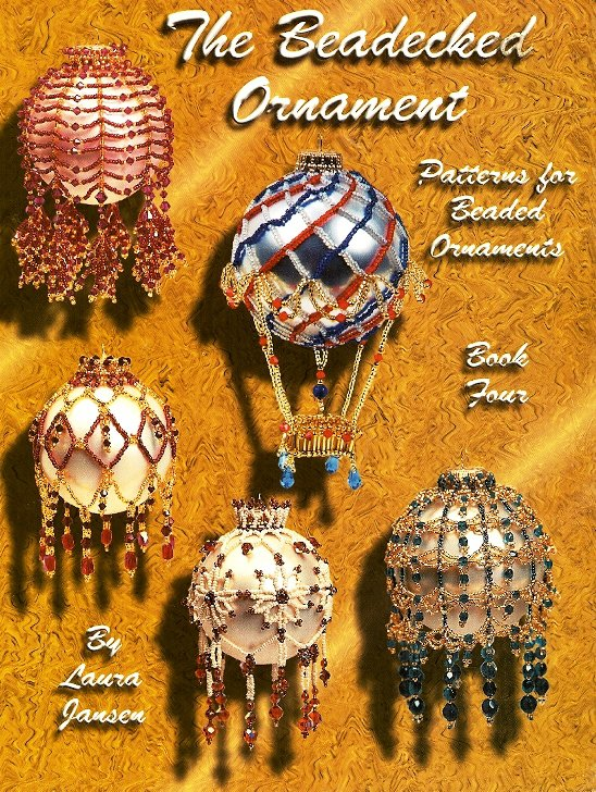 Y892 Bead PATTERN Book ONLY The Beadecked Ornament Christmas Covers Laura Jansen