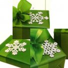 X594 Crochet PATTERN ONLY Snowflake Ornament or Package Tie-on Pattern