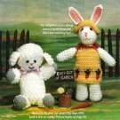 X556 Crochet PATTERN ONLY Cute Easter Bunny & Lamb Doll Pattern
