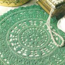 Y092 Crochet PATTERN ONLY Jade & Pearl Doily and Chenille Drawstring Purse
