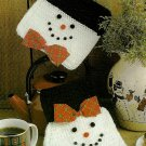 Y685 Crochet PATTERN ONLY Snowman Couple Oven Mitt & Pot Holder Patterns