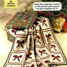 Y985 Crochet PATTERN ONLY Festive Christmas Bow Afghan Throw Pattern