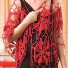 Y061 Crochet PATTERN ONLY Poinsettia Wrap Shawl plus Bonus