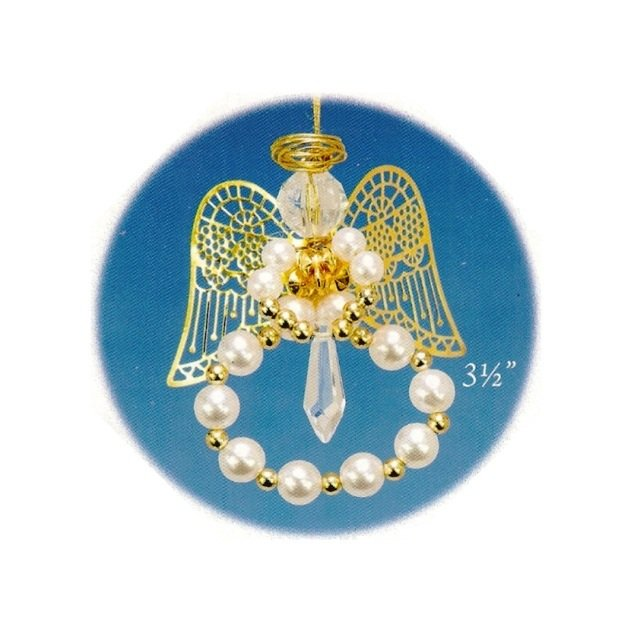 Y574 Bead PATTERN ONLY Beaded Pearl Angel Christmas Ornament Pattern