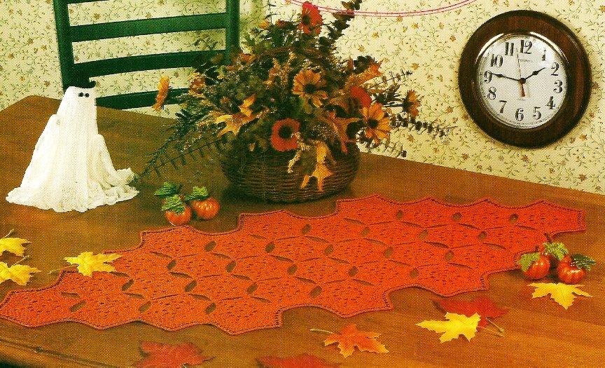 Y609 Crochet PATTERN ONLY Halloween Table Runner Pattern