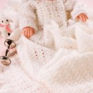 X516 Crochet PATTERN ONLY Elizabethan Style Baby Doll Christening Set Baby Doll