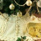 Y715 Crochet PATTERN ONLY Aran Elegance Christmas Stocking & Tree Skirt Patterns
