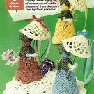 Y729 Crochet PATTERN ONLY Sweet Doily Dolls with Parasol Pattern