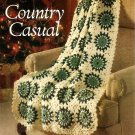 Y777 Crochet PATTERN ONLY Country Casual Round Granny Afghan Pattern
